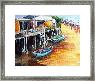 Resting Moment Framed Print by Betty M M   Wong