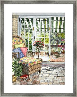 Resting On The Lanai Part 1 Framed Print by Carol Wisniewski