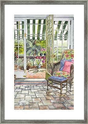 Resting On The Lanai  Part 2 Framed Print by Carol Wisniewski