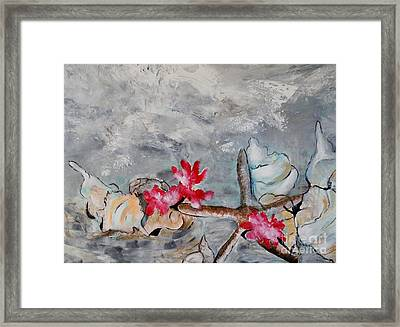 Framed Print featuring the painting Resting On The Sand by Lyn Olsen