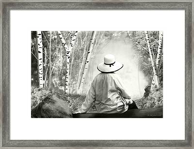 Resting Place - B/w Framed Print by Melisa Meyers
