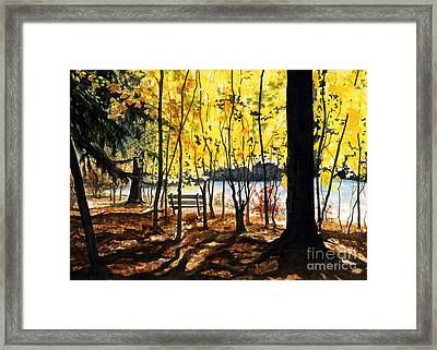 Resting Place Framed Print by Barbara Jewell