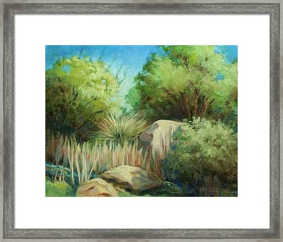 Resting Place Framed Print by Peggy Wrobleski