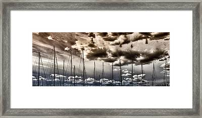 Resting Sailboats Framed Print by Stelios Kleanthous