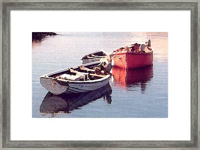Resting Framed Print by Susan Crossman Buscho