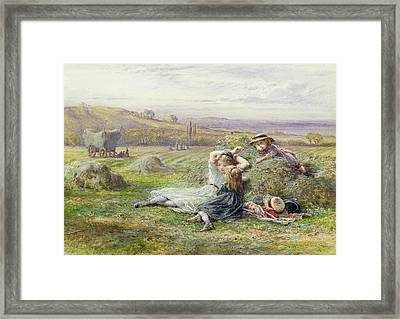 Resting Framed Print by William Stephen Coleman