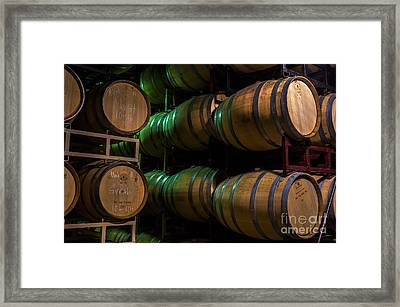 Resting Wine Barrels Framed Print