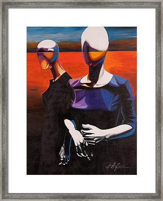 Restless Disguise Framed Print
