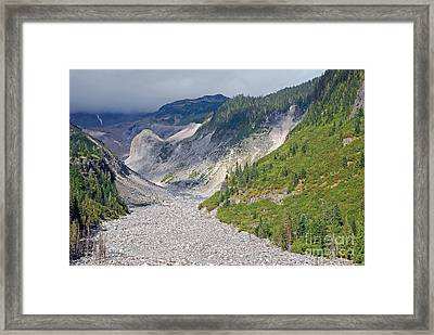 Restless Glaciers At Mount Rainier National Park Framed Print