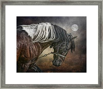 Framed Print featuring the photograph Restless Moon by Brian Tarr