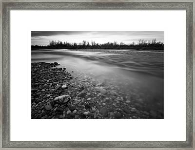 Restless River Framed Print by Davorin Mance