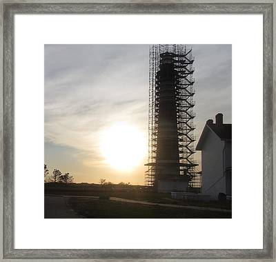 Framed Print featuring the photograph Restoration Of Bodie Lighthouse by Cathy Lindsey