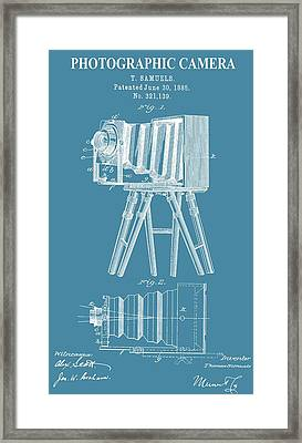 Restored Camera Patent Framed Print by Dan Sproul