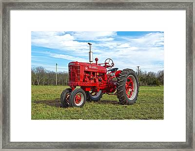 Restored Farmall Tractor Framed Print by Charles Beeler