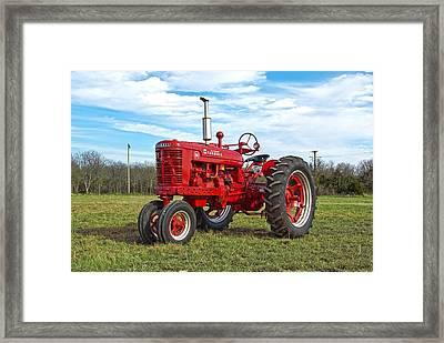 Restored Farmall Tractor Framed Print