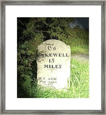 Restored Milestone Near Woodeaves Mill, Several Milestones Framed Print