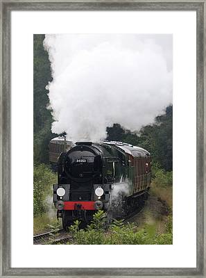 Restored Steam Engine 34053 Framed Print