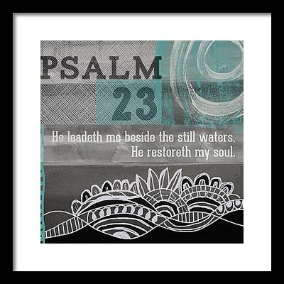 Psalm 23 Framed Prints