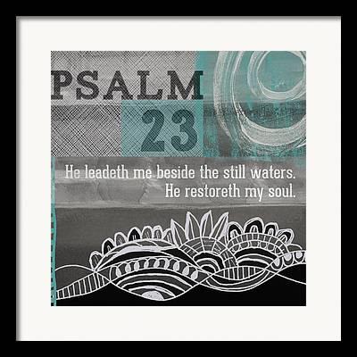 Psalm 23 Framed Prints