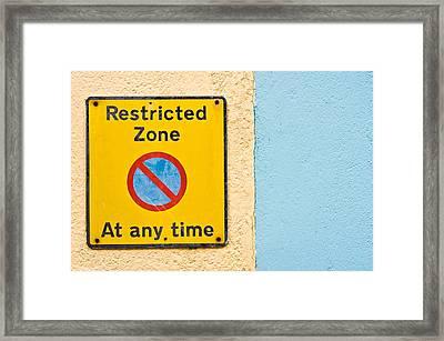 Restricted Zone Framed Print