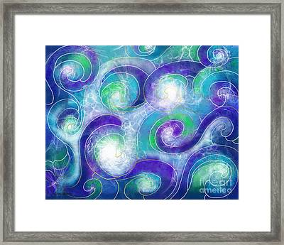 Resurface - Refaire Surface Framed Print by Louise Lamirande