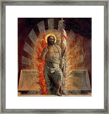 Resurrection Framed Print by Andrea Mantegna