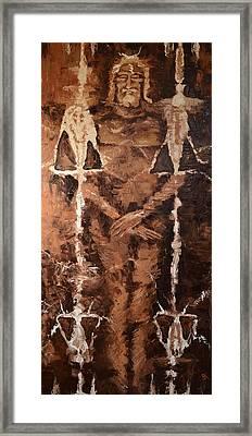 Resurrection Cloth Framed Print by Ember Canada