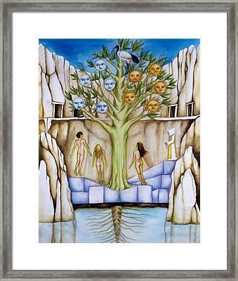 Resurrection Island Framed Print by Rebecca Barham