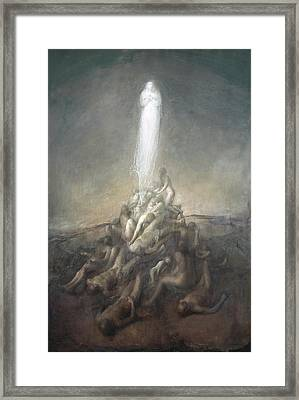 Resurrection Framed Print by Odd Nerdrum