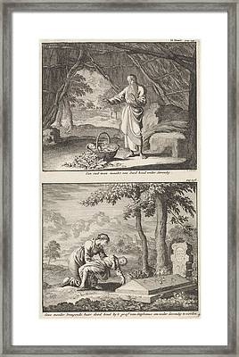Resurrection Of A Dead Child And A Woman Bringing Her Dead Framed Print