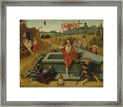 Resurrection Of Christ, Circle Of Master Of The Amsterdam Framed Print