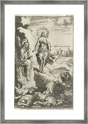 Resurrection Of Christ, Jan Luyken, Jan Claesz Ten Hoorn Framed Print