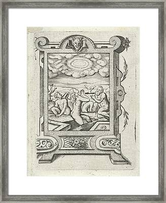 Resurrection Of The Dead, Virgilius Solis Framed Print