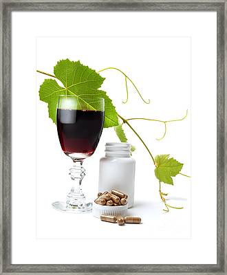 Resveratrol Framed Print by Sinisa Botas