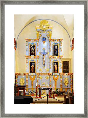 Retablo Mission San Jose Framed Print