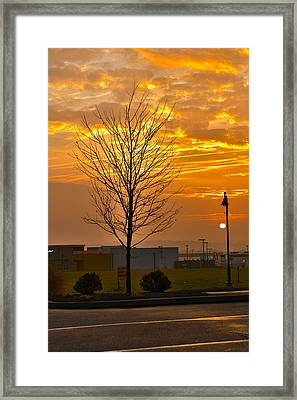Retail Dawn Framed Print