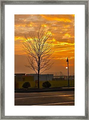 Retail Dawn Framed Print