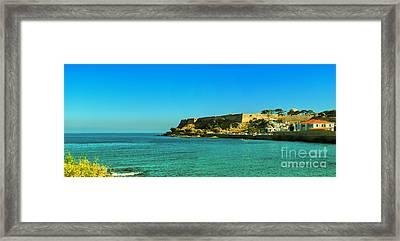 Rethymnon Fort Panorama 02 Framed Print by Antony McAulay