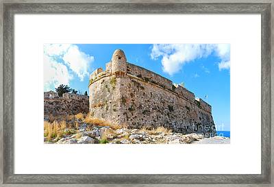 Rethymnon Fort Panorama 03 Framed Print by Antony McAulay