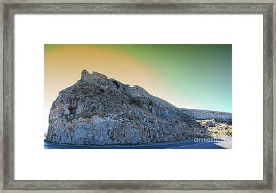 Rethymnon Fort Panorama Framed Print by Antony McAulay