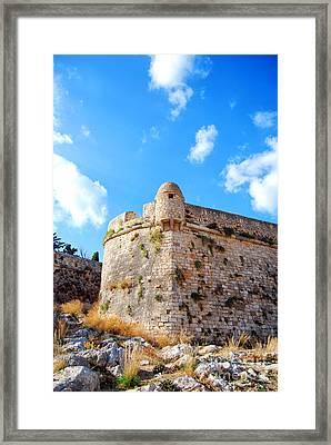 Rethymnon Fort Portrait Framed Print by Antony McAulay