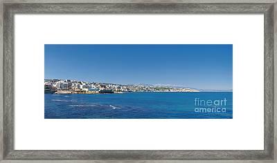 Rethymnon Panorama Framed Print by Antony McAulay