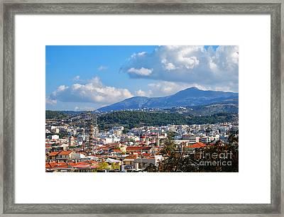 Rethymnon View Framed Print by Antony McAulay