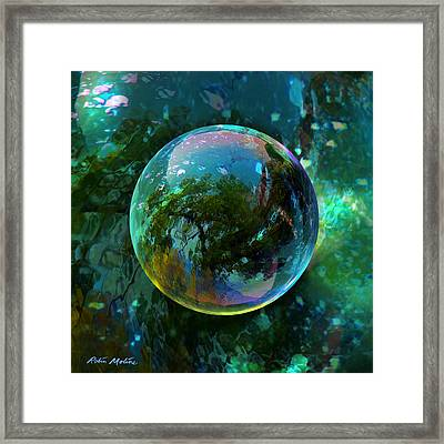 Reticulated Dream Orb Framed Print by Robin Moline
