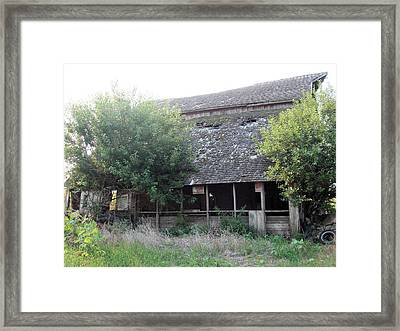 Framed Print featuring the photograph Retired Barn by Bonfire Photography