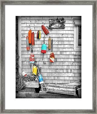 Retired Buoys Framed Print