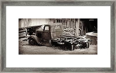 Retired Dodge Truck Framed Print by Stephen Stookey