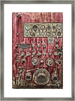 Retired Fire Truck Framed Print