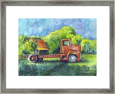 We Have Retired Here Framed Print by Carol Wisniewski