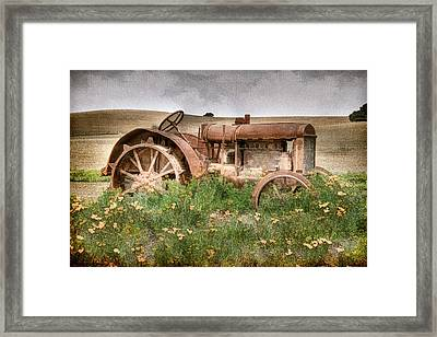 Retired In Poppies Framed Print